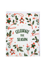 Greeting Cards Celebrate The Season Holiday Single Card