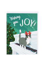 Greeting Cards Cat Playing Piano Holiday Single Card