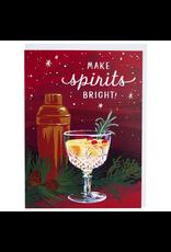 Greeting Cards Bright Spirits Holiday Single Card