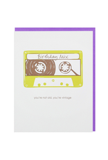 Greeting Cards Mixtape Birthday Single Card