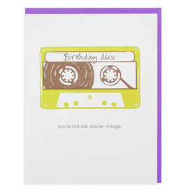Greeting Cards Mixtape Birthday Single Card