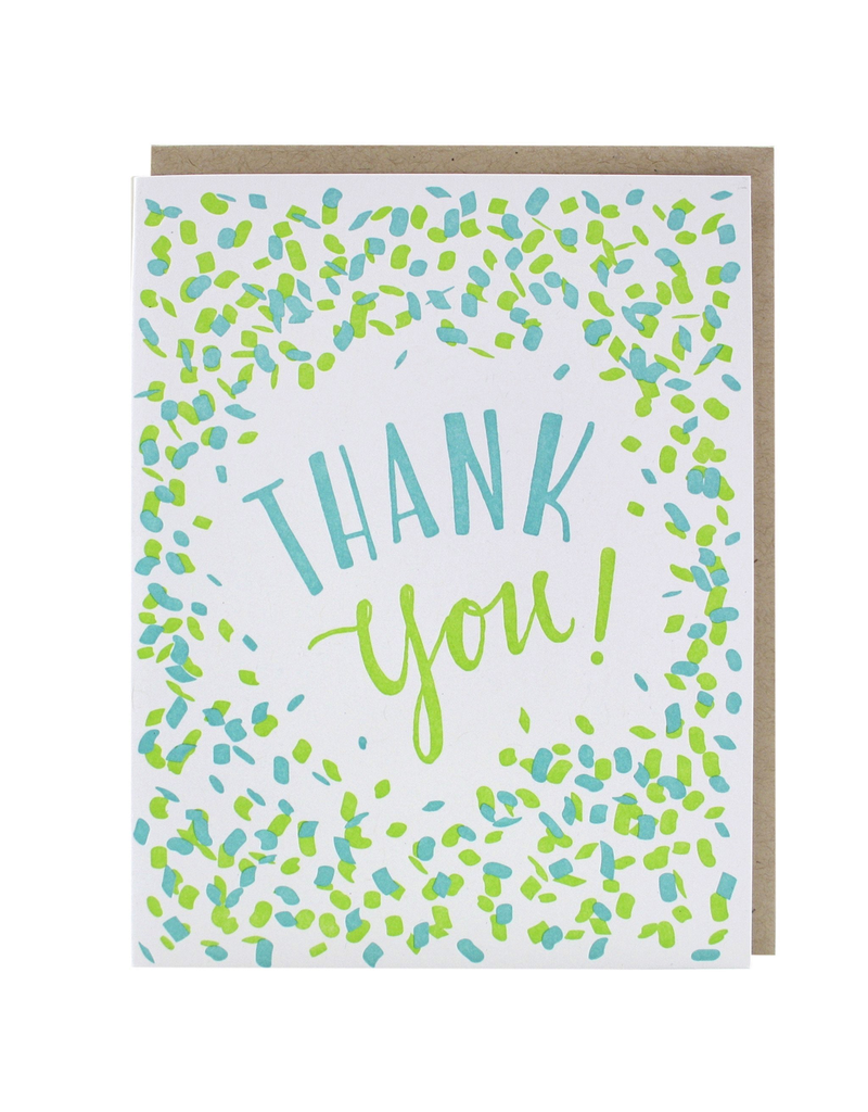 Greeting Cards - Thank You Confetti Thank You Single Card