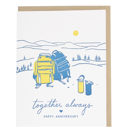 Greeting Cards - Anniversary Backpack Anniversary Single Card