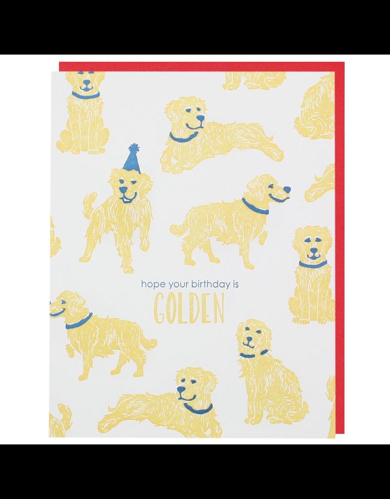Greeting Cards - Birthday Golden Retriever Birthday Single Card
