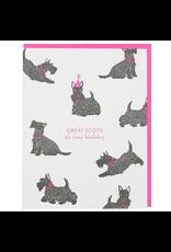 Greeting Cards - Birthday Great Scott! Scottie Birthday Single Card