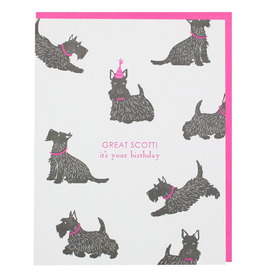Greeting Cards - Birthday Great Scott! Scottie Birthday Single Card