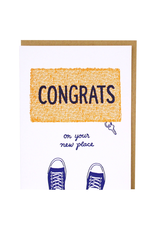 Greeting Cards - New Home Congrats Door Mat New Home Single Card