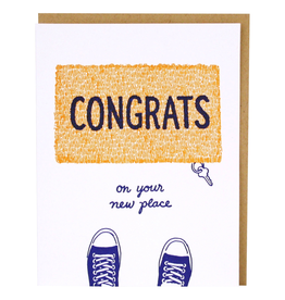 Greeting Cards - New Home Congrats Door Mat New Home Single Card