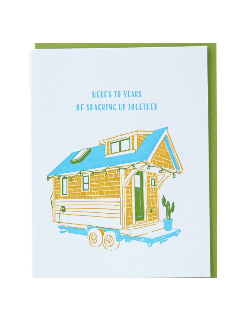 Greeting Cards - Anniversary Tiny House Anniversary Single Card