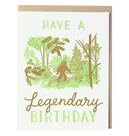 Greeting Cards - Birthday Sasquatch Legendary Birthday Single Card