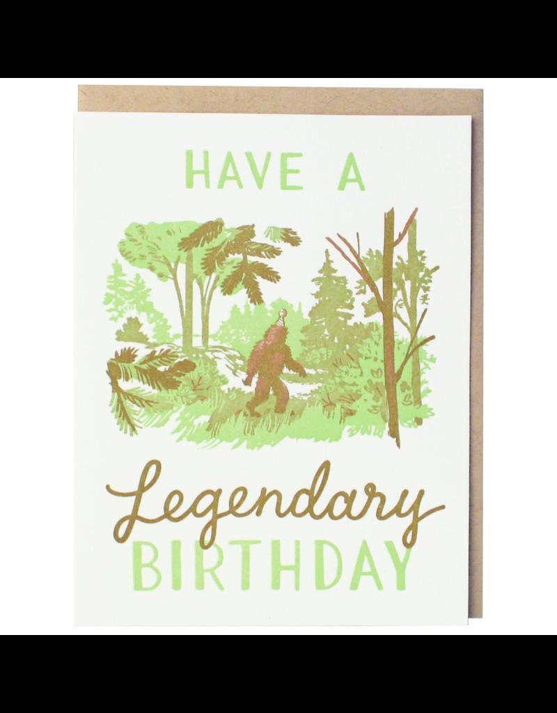 Greeting Cards - Birthday Sasquatch Legendary Birthday Single Card