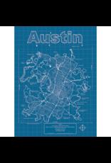 Prints Austin Blueprint 18x24 Poster