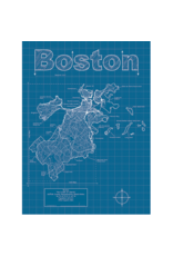 Prints Boston Blueprint 18x24 Poster