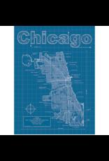 Prints Chicago Blueprint 18x24 Poster