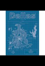 Prints Dallas Blueprint 18x24 Poster
