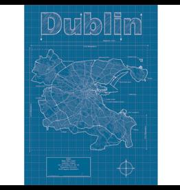 Prints Dublin Blueprint 18x24 Poster