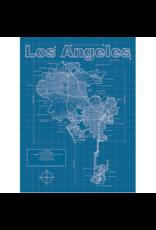 Prints Los Angeles Blueprint 18x24 Poster