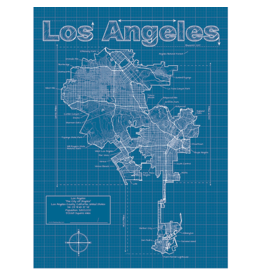 Prints Los Angeles Blueprint 18x24 Poster