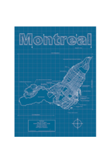 Prints Montreal Blueprint 18x24 Poster