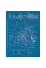 Prints Nashville Blueprint 18x24 Poster