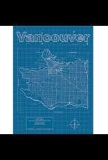 Prints Vancouver BC Blueprint 18x24 Poster