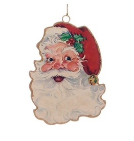 Ornaments Retro Metal Santa Ornament