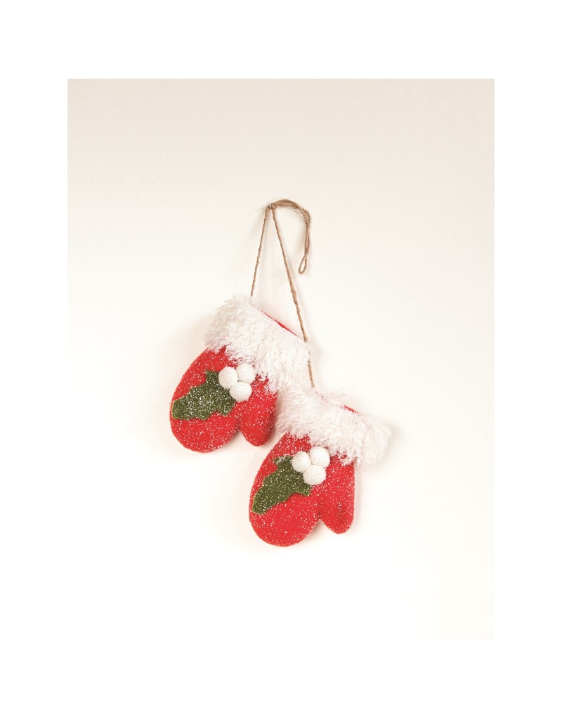 Ornaments Mittens & Holly Hanging Decor