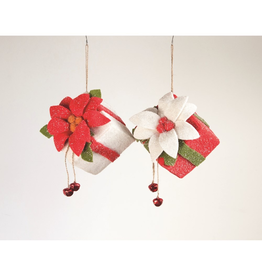 Ornaments Poinsettia & Bells Present Hanging Decor