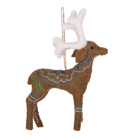 Ornaments Reindeer Embroidered Ornament