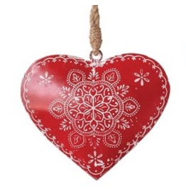 Ornaments Red Metal Heart Ornament