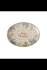 Serveware Pine Foliage Merry Christmas Platter