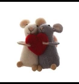 Ornaments Love Heart Mice Ornament