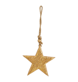 Ornaments Gold Wood Star Ornament