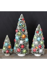 Accent Retro Brush Christmas Trees