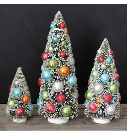 Accent Retro Brush Christmas Trees