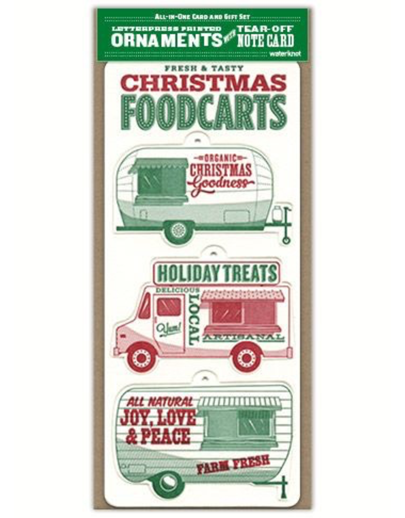 Greeting Cards Christmas Foodcarts Ornaments Card