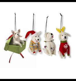 Ornaments - Felt Holiday Delight Dog Ornaments