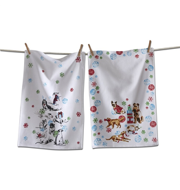 Tea Towels Holiday Party Dogs Tea Towels