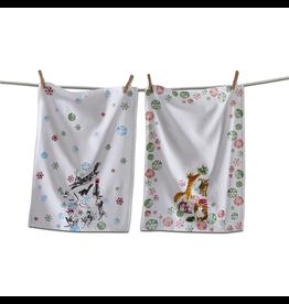 Tea Towels Holiday Party Cats Tea Towels