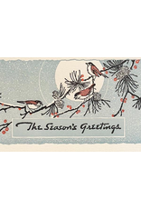Greeting Cards - Christmas Moon Birds Boxed Holiday Cards