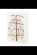 Greeting Cards - Christmas Meowy Christmas Single Card
