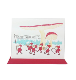 Greeting Cards Gnome Holiday Parade Single Card