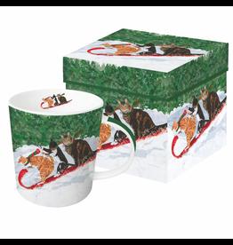 Mugs Tobogganing Cats Mug