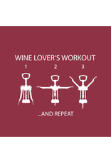 Paper Disposable Wine Lovers Workout Beverage Napkins