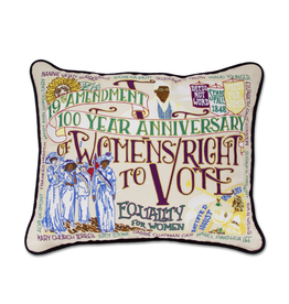 Pillows - Embroidered 19th Amendment Pillow