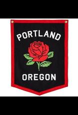 Pennants Portland Rose Camp Flag