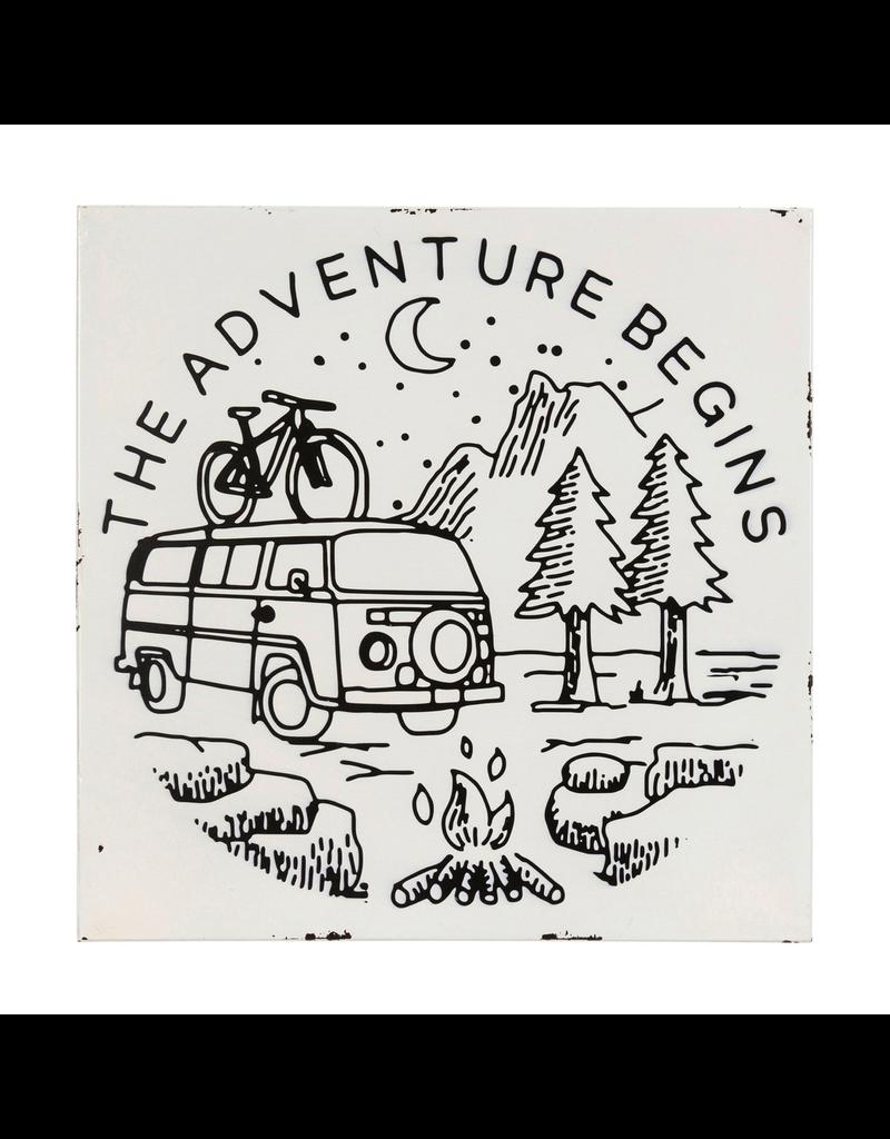 Plaques Adventure Begins Camper Van Plaque