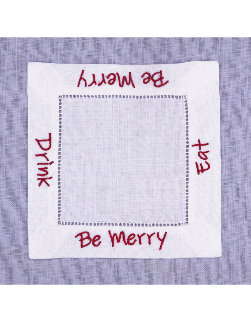 Cocktail Napkins Be Merry Cocktail Napkins