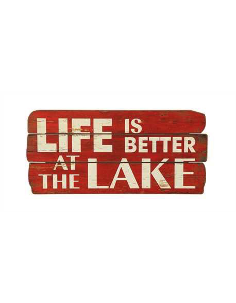 Wall Decor Life Is Better At The Lake Red Sign