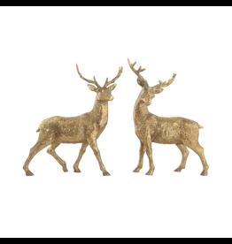 Accent Gold Standing Deer Pair